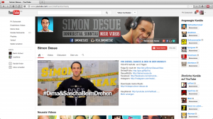 Simon Desue auf Youtube
