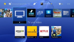 PS4 Streaming mit Apps
